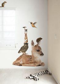Naklejki ścienne żyrafy Z Szafy Zapraszają Leśne Zwierzęta Do