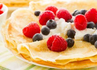 naleśniki, owoce, podwieczorek, obiad na słodko