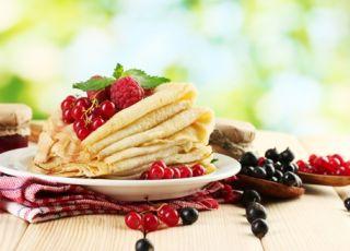 naleśniki owocowe, naleśniki z owocami, przepis na naleśniki