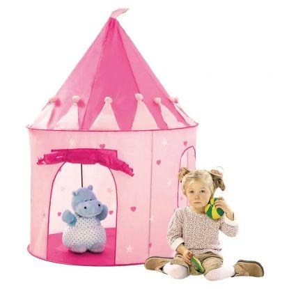 Różowy namiot