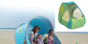 namiot, plażowy namiot,  łóżeczko turystyczne