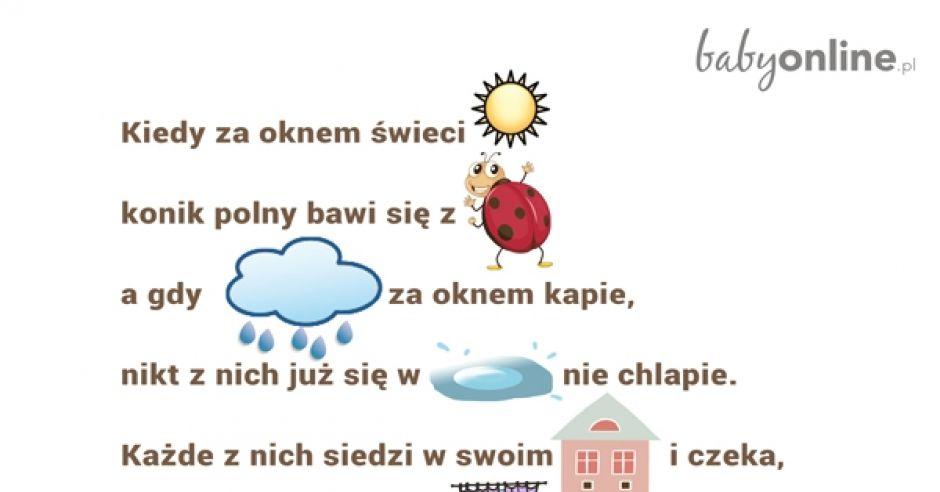 Nauka Czytania Wierszyk Do Druku Mamotojapl