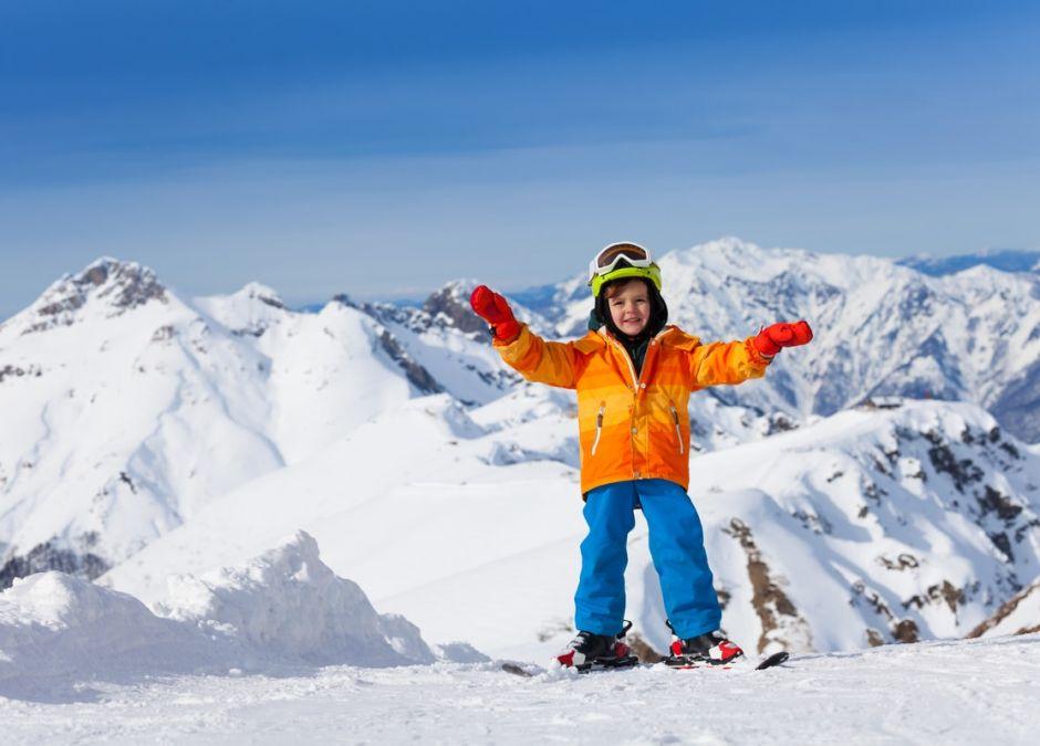 nauka jazdy na nartach dla dzieci