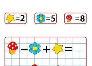 nauka liczenia, nauka dodawania, nauka odejmowania, gra dla dzieci, gra logiczna