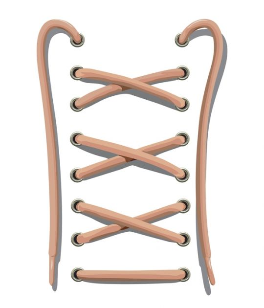 jak wiązać sznurówki - szablon do ćwiczeń