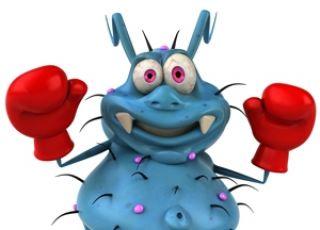 niebieski potworek - symbol niedzielnego stresu