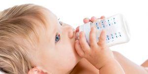 niemowlę, butelka, picie, picie dla niemowlaka