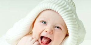 niemowlę, dziecko, śmiech, uśmiech