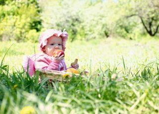niemowlę, dziecko, owoce, owoce sezonowe