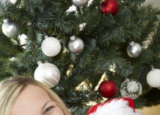 niemowlę, choinka, święta, mama, Boże Narodzenie