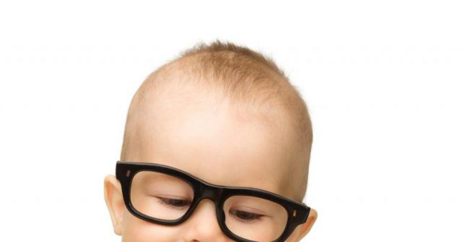 niemowlę, jabłko, owoc, okulary, wzrok