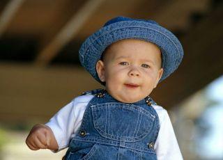 niemowlę, kapelusz, lato
