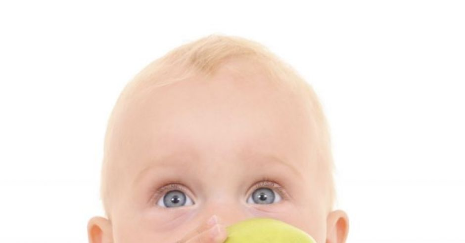 niemowlę, kuchnia, jabłko