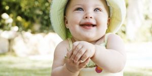niemowlę, lato, słońce