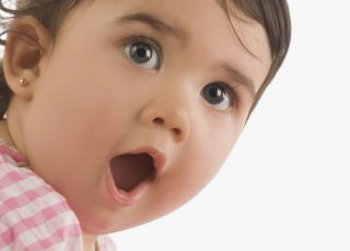 niemowlę, mówić, usta