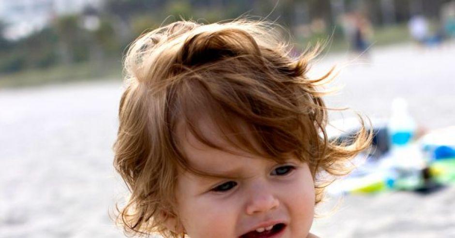 niemowlę, plaża, wakacje, morze