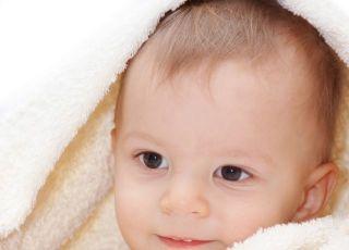 niemowlę, ręcznik, kąpiel
