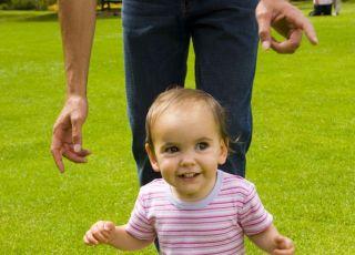 niemowlę, ruch, bieganie