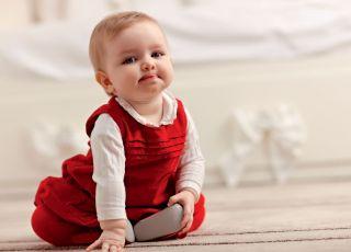 niemowlę, siedzieć