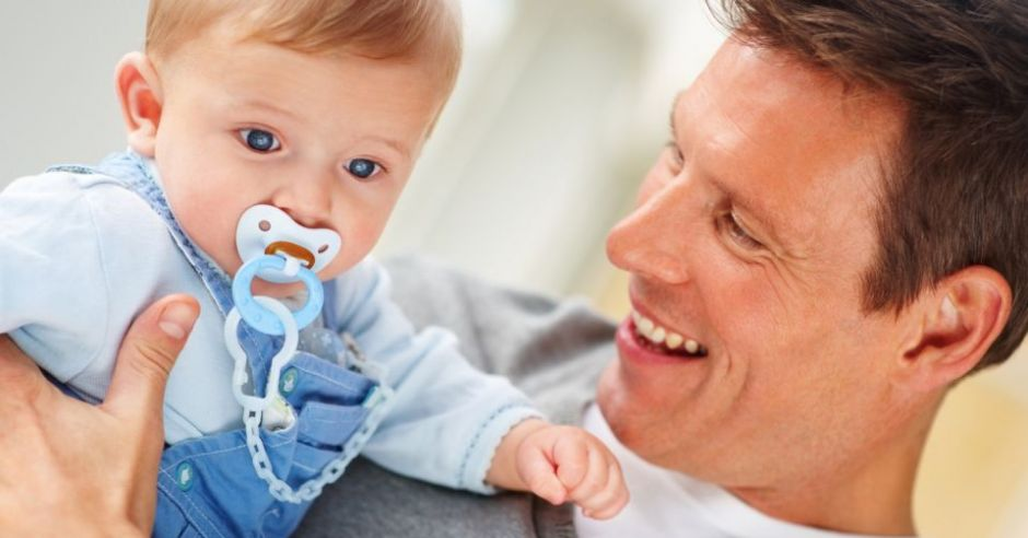 niemowlę, tata