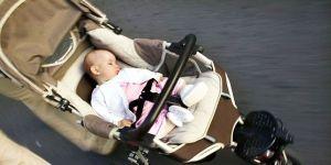 niemowlę, wózek, wózek dziecięcy