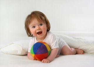 niemowlę, zabawka, piłka