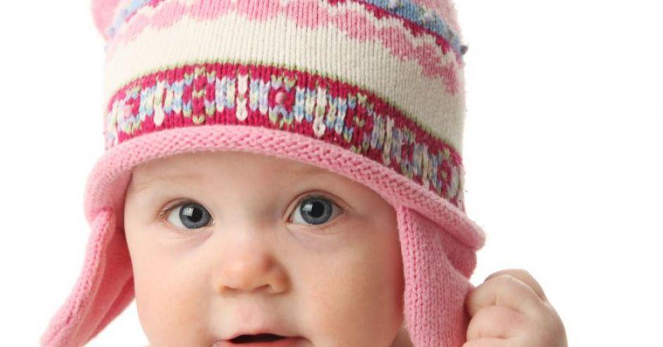 niemowlę, zima, czapka