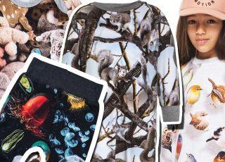 niesamowite nadruki na ubraniach dziecięcych Molo