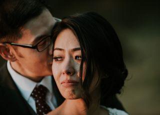 Niezwykłe zdjęcie pary młodej tuż po ślubie