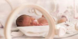 Noworodek leży w szpitalu w inkubatorze