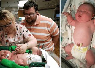 noworodek z rekordową wagą