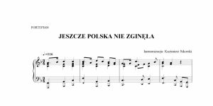 nuty Mazurek Dąbrowskiego, hymn Polski