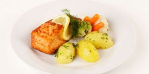 obiad, ryba, talerz