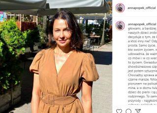 """Oburzona Anna Popek: """"Gwiazdunie wspierają aborcję i czarne marsze, a w domu tulą swoje ukochane dzieci"""""""
