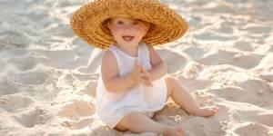 Ochrona skóry dziecka na plaży