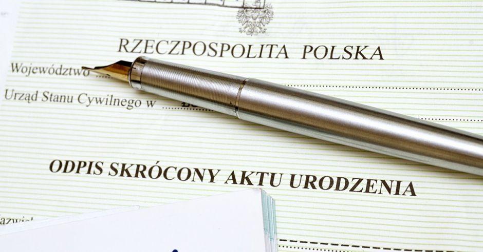 Odpis skrócony aktu urodzenia, dokument, akt urodzenia