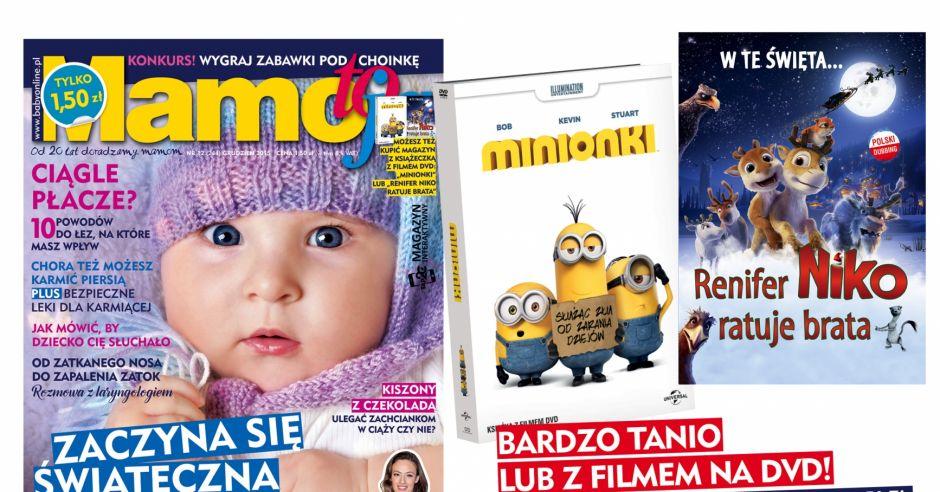 okładka Mamo, To Ja   numer grudniowy 2015 z filmem Minionki