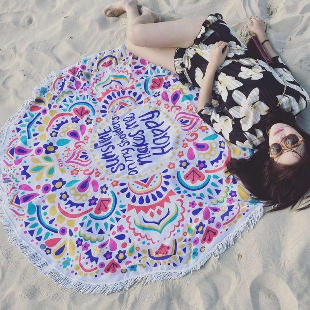 okrągły kocyk z frędzlami w kolorowe wzory najmodniejszy koc plażowy ręcznik plażowy bawełniany aliexpress.ple.jpg