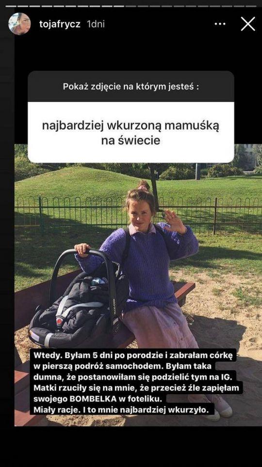 Olga Frycz zaatakowana przez instagramowe matki