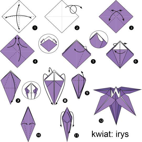 origami dla dzieci kwiat
