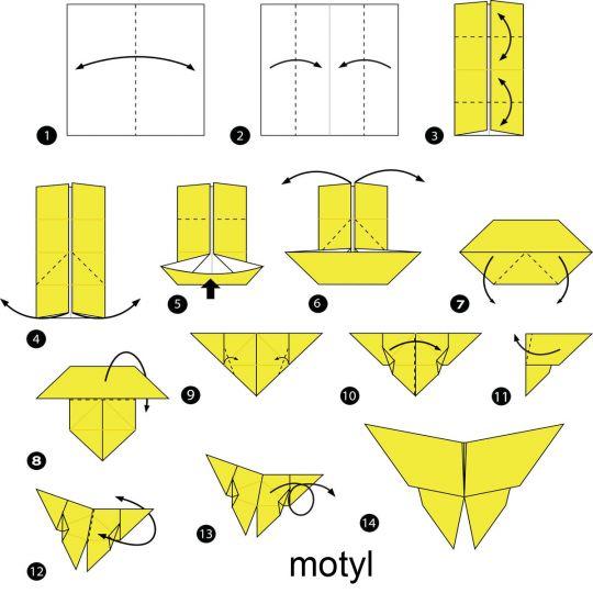origami dla dzieci motyl