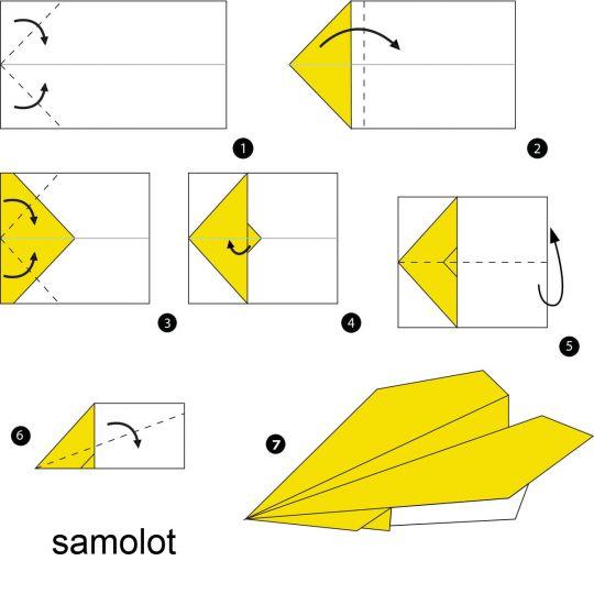 origami dla dzieci samolot