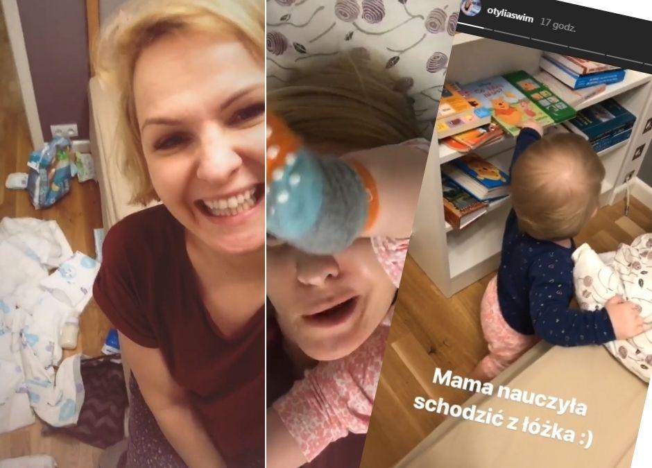 Otylia Jędrzejczak z córeczką - Marcelina szaleje i bałagani