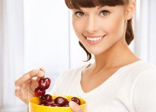owoce, kobieta, śniadanie, dieta, odchudzanie