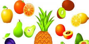 owoce, kolorowanki
