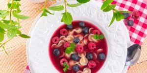 owoce, zupa, deser
