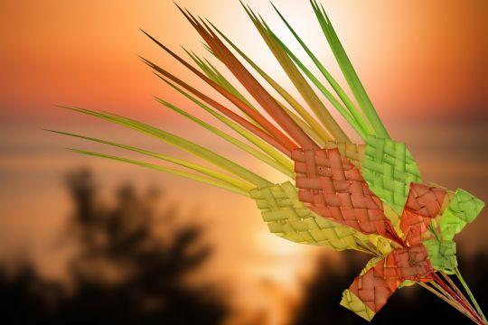 jak zrobić palmę wielkanocną  z papieru