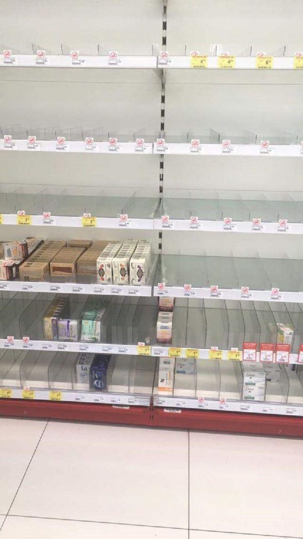 panika w sklepach z powodu koronawirusa