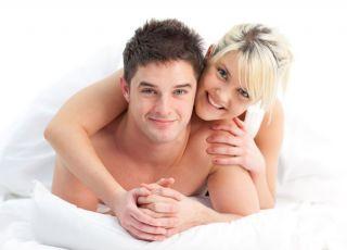 para, kobieta, mężczyzna, łóżko
