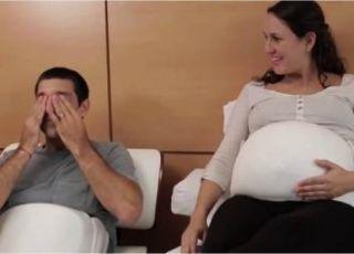 Mężczyzna w ciąży - rewolucyjny pas pozwalający tacie poczuć ruchy płodu (VIDEO)
